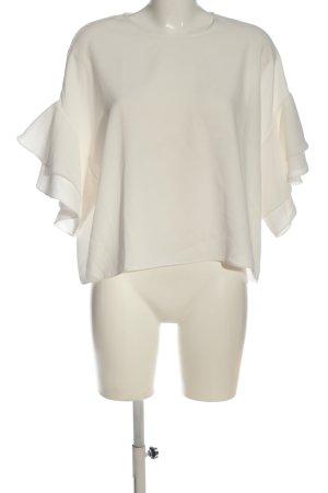 Zara Woman Ruche blouse wit zakelijke stijl