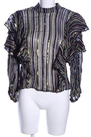 Zara Woman Rüschen-Bluse Streifenmuster extravaganter Stil