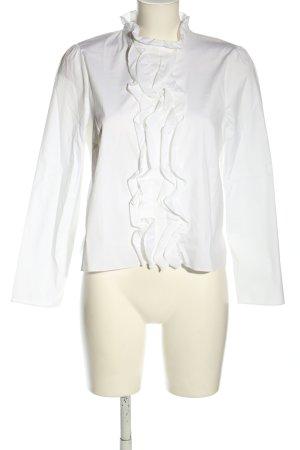 Zara Woman Rüschen-Bluse weiß Casual-Look