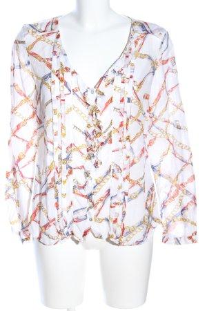 Zara Woman Ruffled Blouse allover print casual look