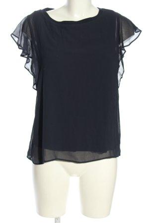 Zara Woman Top met franjes lichtgrijs zakelijke stijl