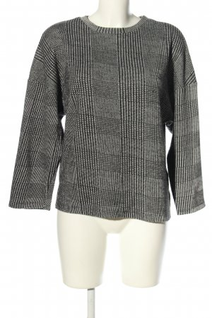 Zara Woman Pull ras du cou gris clair imprimé allover style décontracté
