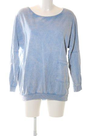 Zara Woman Rundhalspullover blau Casual-Look