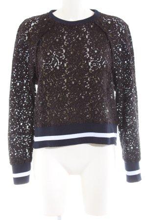 Zara Woman Rundhalspullover mehrfarbig extravaganter Stil