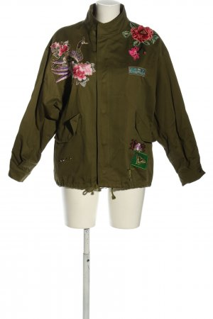 Zara Woman Safari Jacket khaki-pink flower pattern casual look