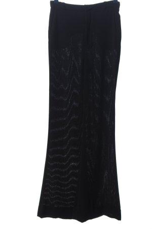 Zara Woman Broek met wijd uitlopende pijpen zwart casual uitstraling