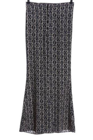 Zara Woman Schlaghose schwarz-weiß abstraktes Muster Casual-Look
