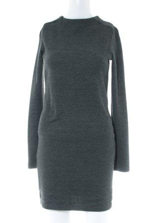 Zara Woman Tube Dress anthracite flecked simple style