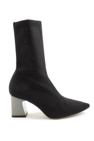 Zara Woman Botas deslizantes negro elegante