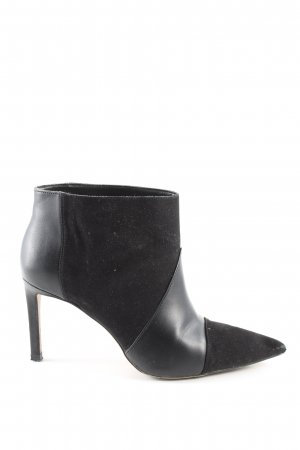 Zara Woman Schlüpf-Stiefeletten schwarz Business-Look