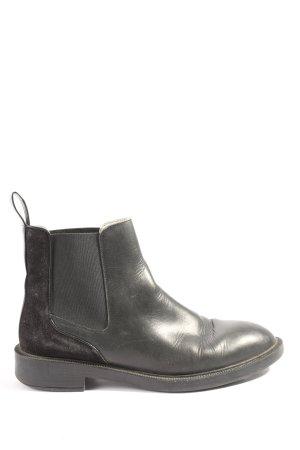 Zara Woman Schlüpf-Stiefeletten schwarz Casual-Look