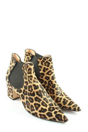 Zara Woman Schlüpf-Stiefeletten Leomuster extravaganter Stil