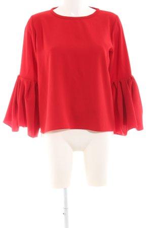Zara Woman Schlupf-Bluse rot Business-Look