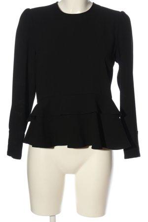 Zara Woman Schlupf-Bluse schwarz Elegant