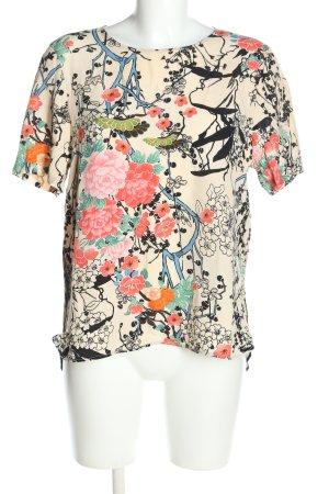 Zara Woman Schlupf-Bluse abstraktes Muster Casual-Look