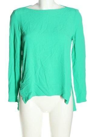 Zara Woman Schlupf-Bluse grün Casual-Look