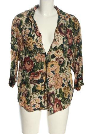 Zara Woman Schlupf-Bluse Allover-Druck Business-Look