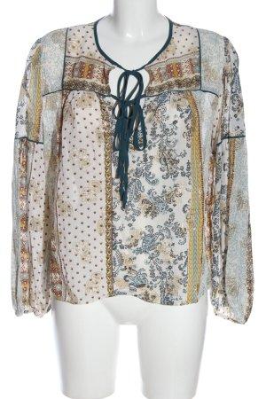 Zara Woman Schlupf-Bluse Allover-Druck Casual-Look