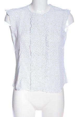 Zara Woman Schlupf-Bluse weiß-schwarz Punktemuster Casual-Look