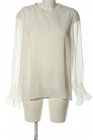Zara Woman Schlupf-Bluse weiß Casual-Look