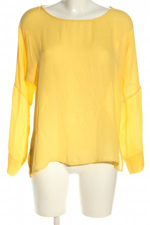 Zara Woman Schlupf-Bluse blassgelb Casual-Look