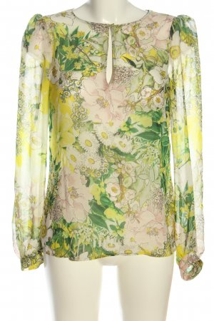 Zara Woman Schlupf-Bluse Allover-Druck Elegant