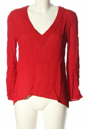 Zara Woman Schlupf-Bluse rot Casual-Look
