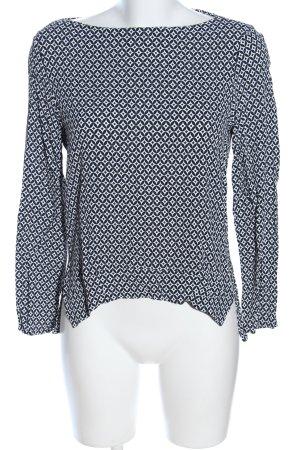 Zara Woman Schlupf-Bluse schwarz-weiß Allover-Druck Business-Look