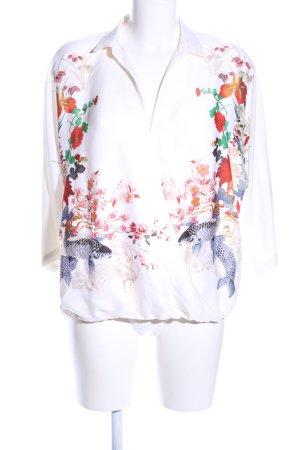 Zara Woman Schlupf-Bluse Animalmuster Elegant