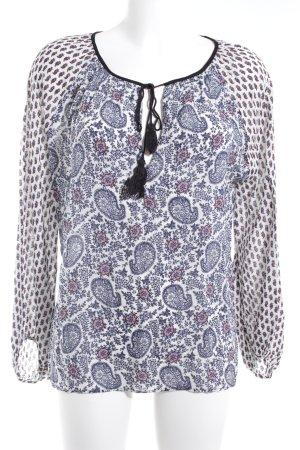 Zara Woman Schlupf-Bluse Ethnomuster Casual-Look
