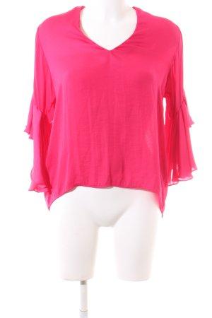 Zara Woman Schlupf-Bluse pink Casual-Look