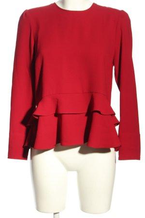 Zara Woman Blouse avec noeuds rouge style d'affaires
