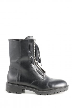Zara Woman Lace-up Boots black casual look