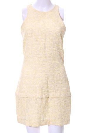 Zara Woman Vestido peplum crema elegante