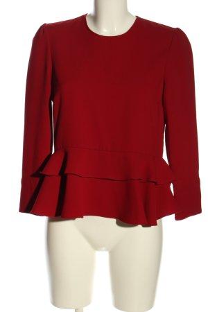 Zara Woman Schößchentop rot Casual-Look