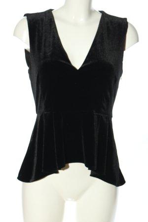 Zara Woman Schößchentop schwarz Elegant