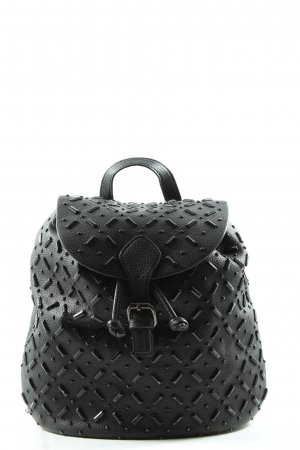 Zara Woman Sac à dos collège noir style décontracté