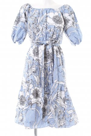Zara Woman schulterfreies Kleid Blumenmuster Casual-Look
