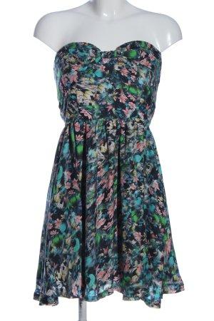 Zara Woman schulterfreies Kleid Allover-Druck Elegant