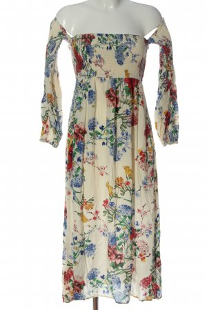 Zara Woman schulterfreies Kleid Allover-Druck Casual-Look