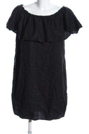Zara Woman schulterfreies Kleid schwarz Elegant
