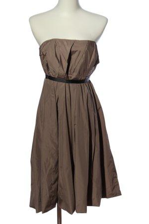 Zara Woman schulterfreies Kleid braun Elegant