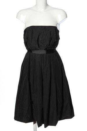 Zara Woman schulterfreies Kleid schwarz Casual-Look