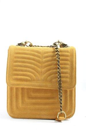 Zara Woman Schultertasche blassgelb Steppmuster Casual-Look