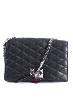Zara Woman Schultertasche schwarz Steppmuster Casual-Look