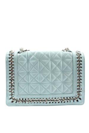 Zara Woman Schultertasche türkis Steppmuster Elegant