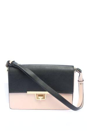 Zara Woman Schultertasche schwarz-pink Casual-Look
