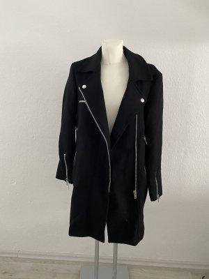 Zara Woman Schwarz S Mantel Parka Wolle edel cute so miu balmain Look
