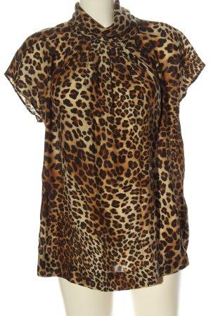 Zara Woman Jedwabna bluzka Wielokolorowy Elegancki