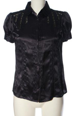 Zara Woman Seidenbluse schwarz Elegant